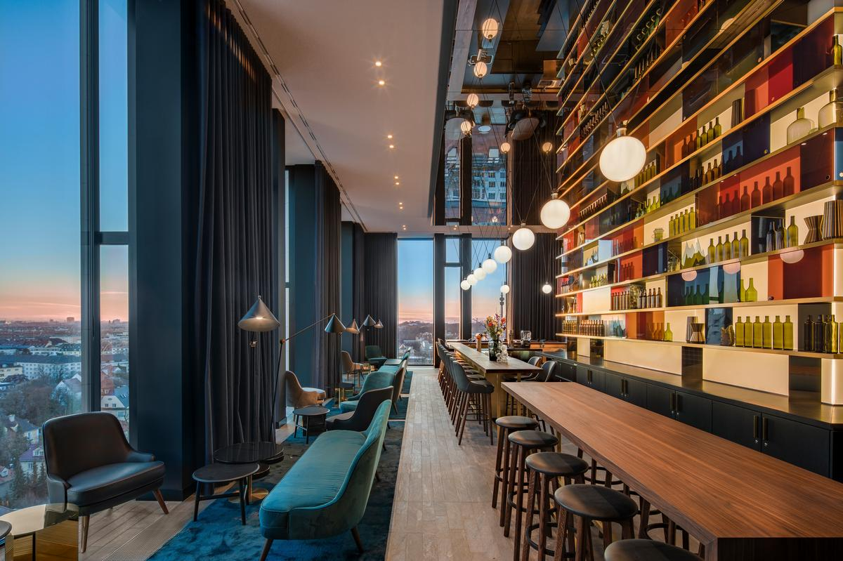 The hotel was designed to reflect Munich's storied bohemian and cosmopolitan traditions. / Courtesy of Concrete