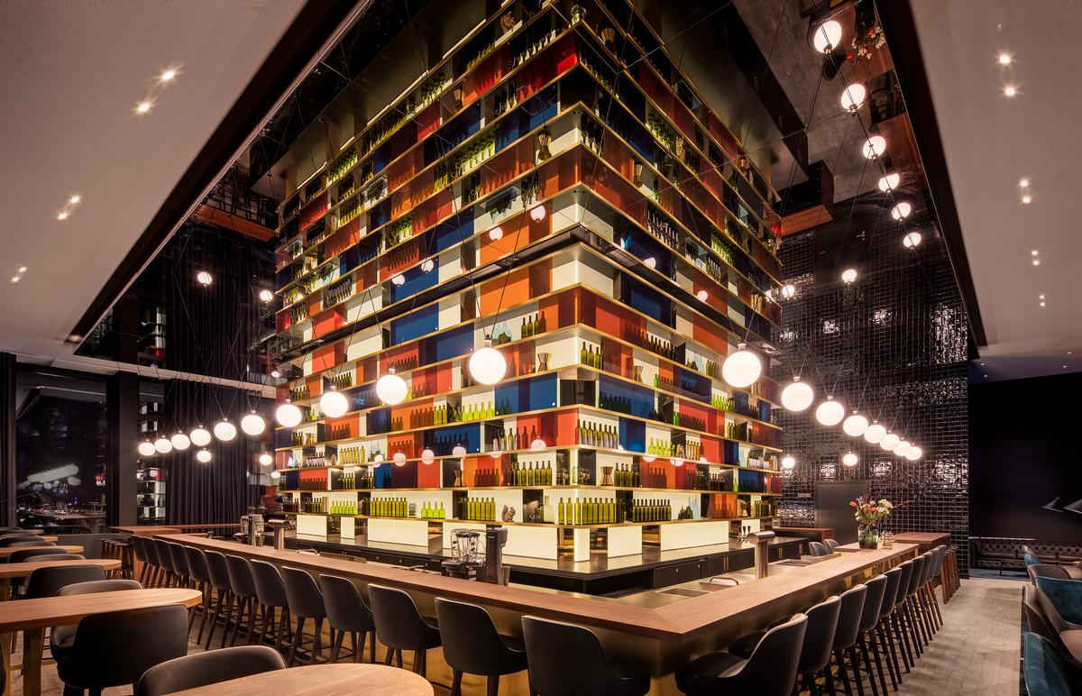 The hotel is the first Andaz-branded hospitality venue to open in Germany. / Courtesy of Concrete