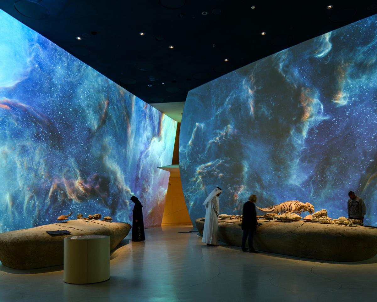 RES installed 112 Panasonic 4K projectors and 172 media servers at the National Museum in Qatar / ©Antonio Pagano