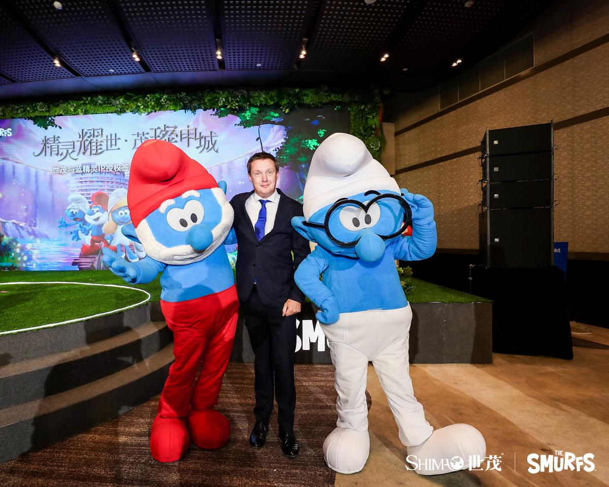 KCC CEO Yannick Maes at the announcement of China's first Smurfs-themed theme park