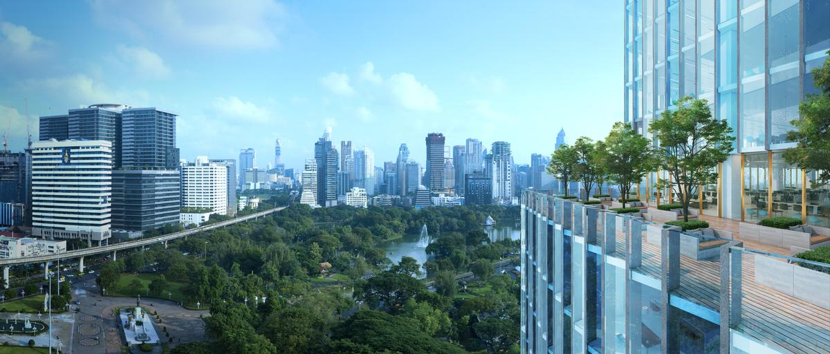 The development is taking shape near Bangkok's Lumpini Park. / Dusit International