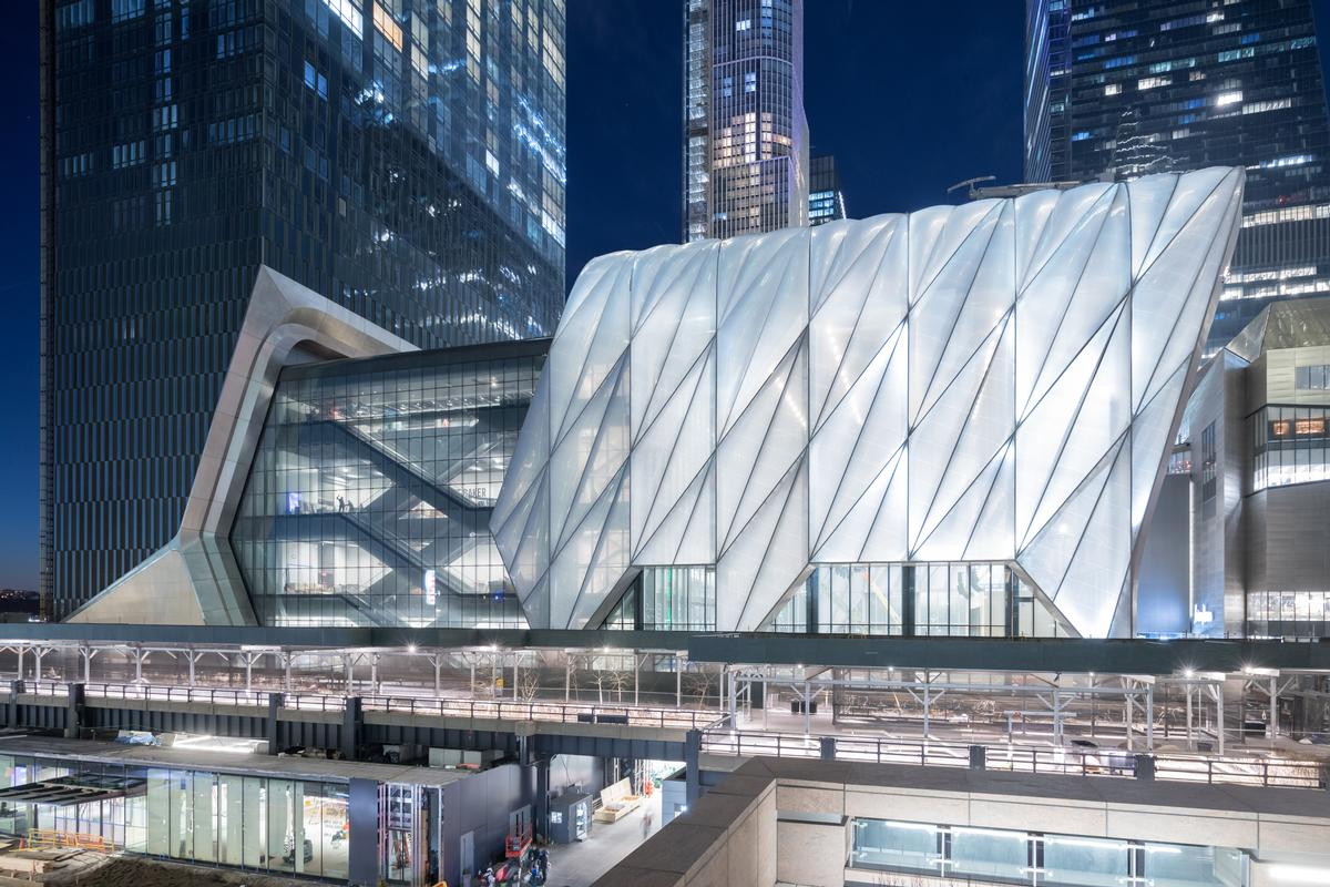 The arts venue is one of the crowning structures of the Hudson Yards development. / Photo by Iwan Baan