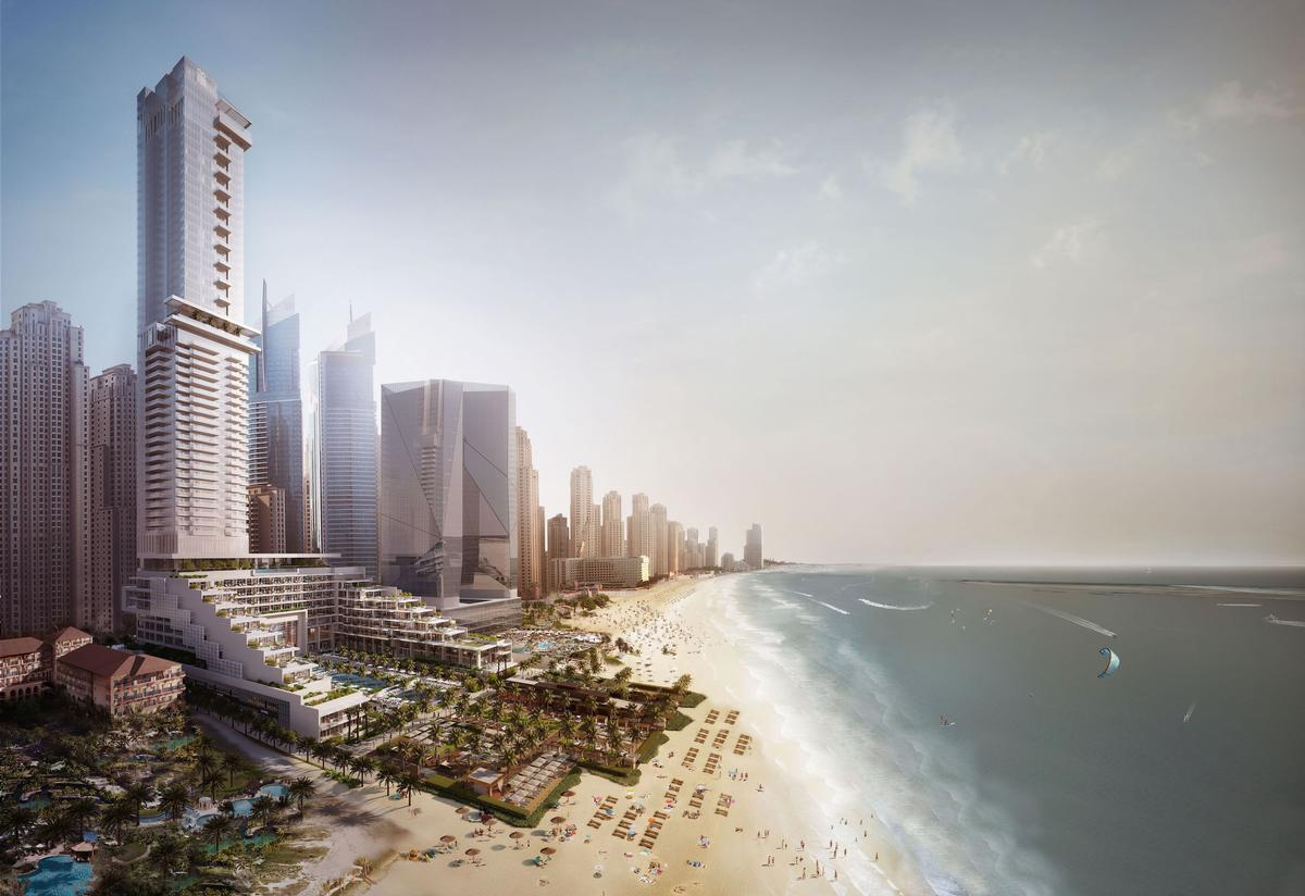 Working in partnership with Meydan Group, the 55-storey Corinthia Meydan Beach is situated within Dubai Marina, and will include 360 bedrooms