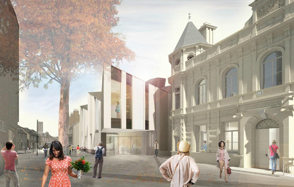 The centre is part of a wider regeneration project in Galashiels / Scottish Borders Council