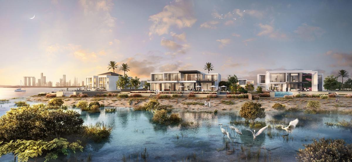 Jubail Island – expected to be completed in 2022 – will comprise 800 residences. / Courtesy of JIIC