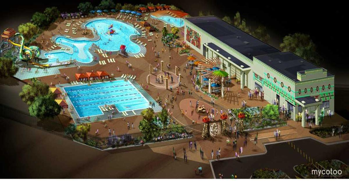 A rendering of the Lost Kingdom water park / Mycotoo