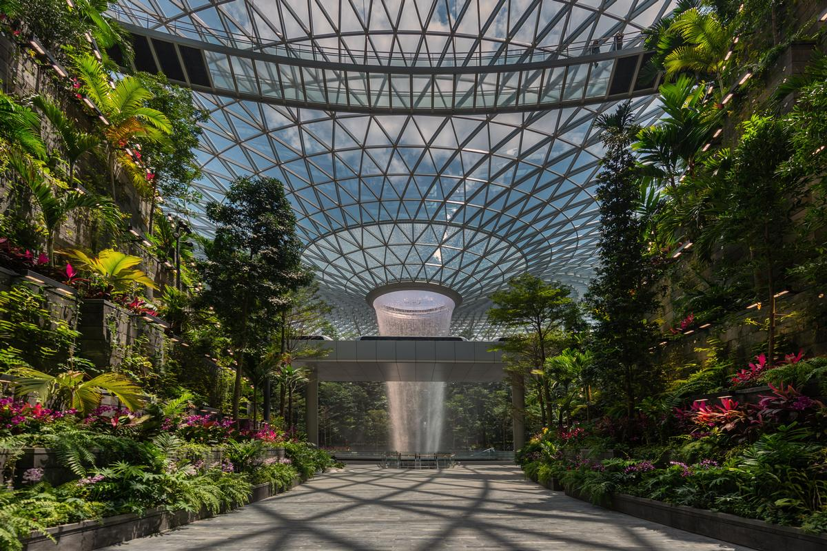 BuroHappold Engineering was the property's main contractor. / Courtesy of Jewel Changi Airport