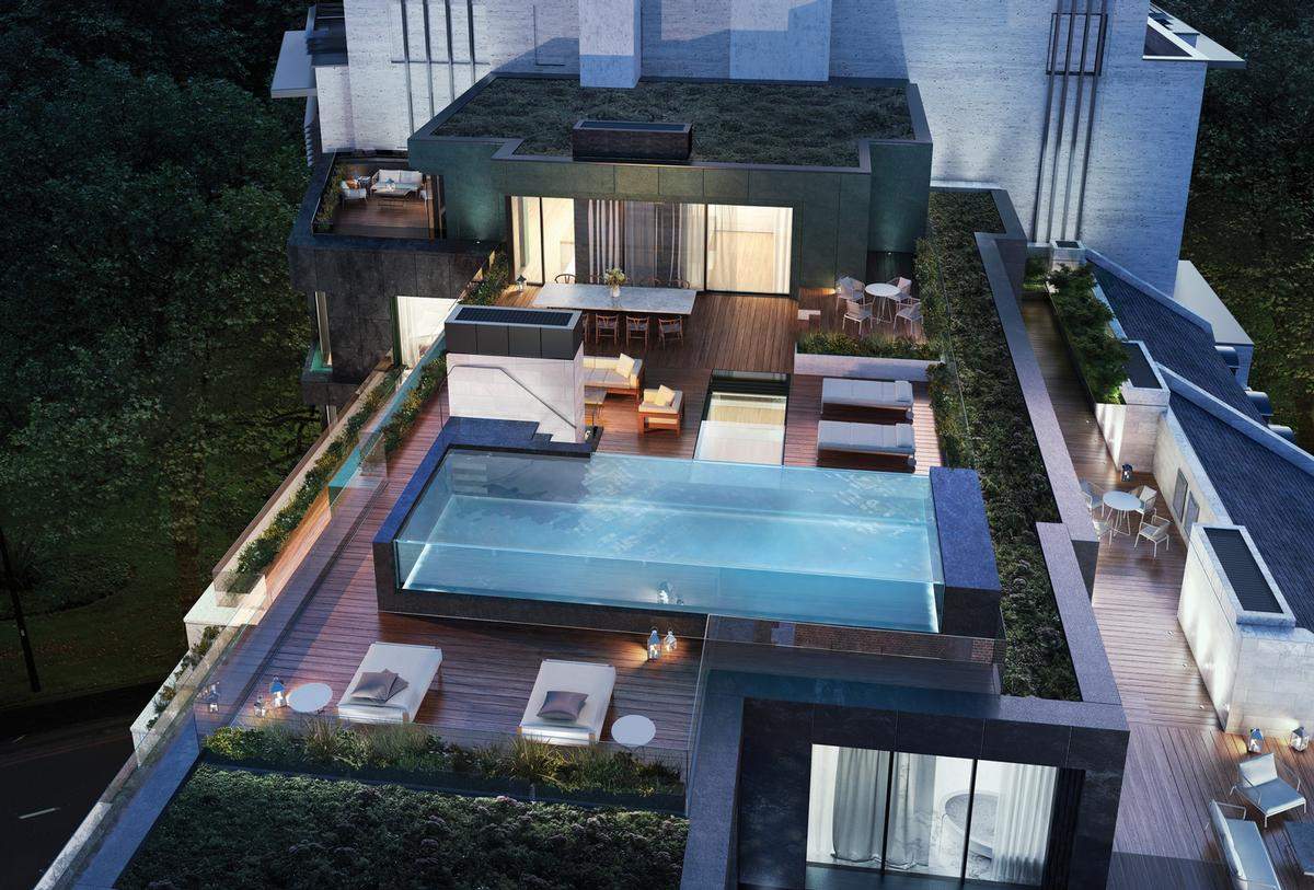 The residences will also have an eight-bedroom penthouse. / Courtesy of Clivedale London
