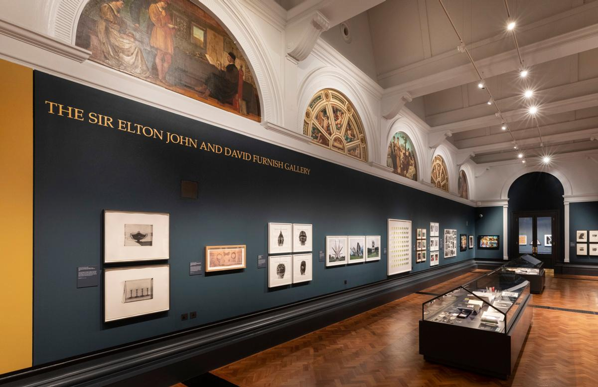 Gallery 101 in the newly opened V&A Photography Centre is renamed 'The Sir Elton John and David Furnish Gallery' / Dave Benett Getty Images for the V&A