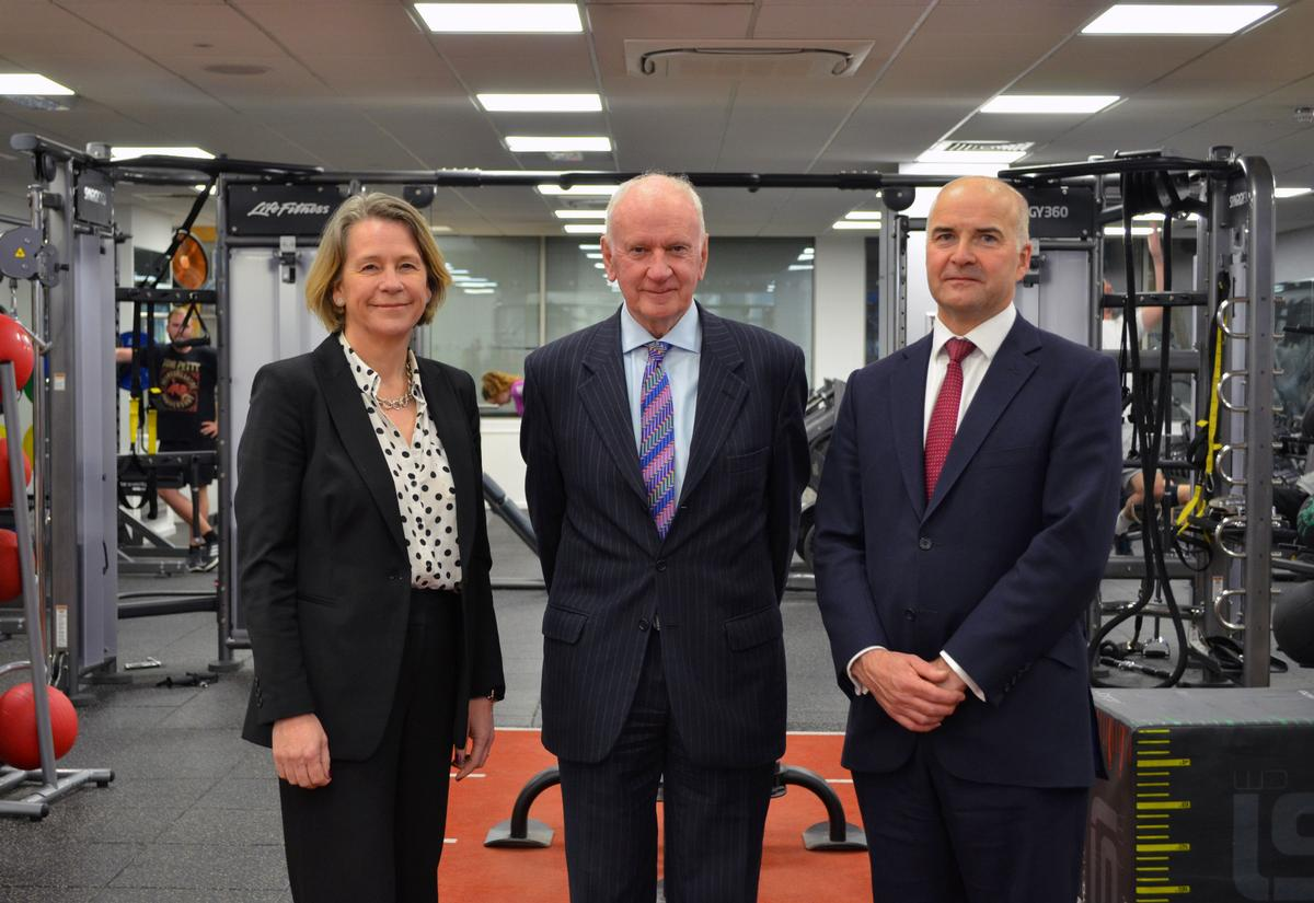 The deal will see a £2.5m being invested in facilities over the next three years –Marg Mayne, Mytime Active CEO (left) with councillor Peter Morgan (centre) and Mark Oakley, Mytime Active chair