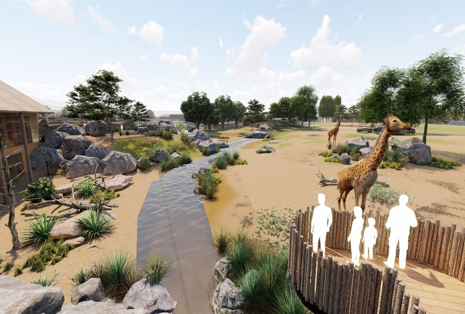Should plans be approved, Grasslands will open to the public in 2022 / Chester Zoo