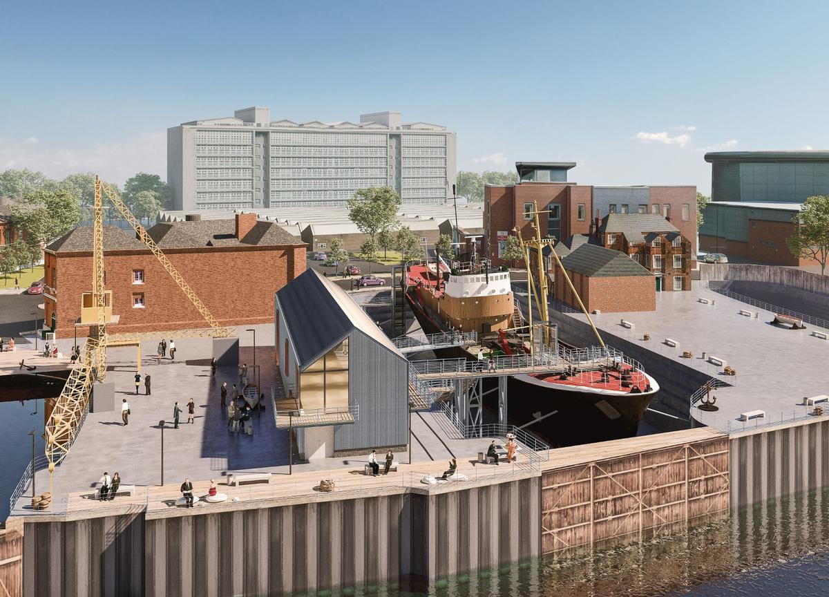 The Maritime Museum, North End Shipyard, Arctic Corsair and Spurn Lightship will all be transformed under the plans / Hull City Council