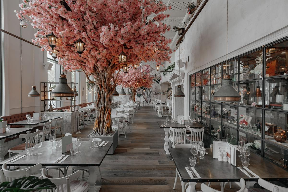 Nwtc Brings Out Floral Themed Restaurant With Life Size Cherry Blossoms Architecture And Design News Cladglobal Com