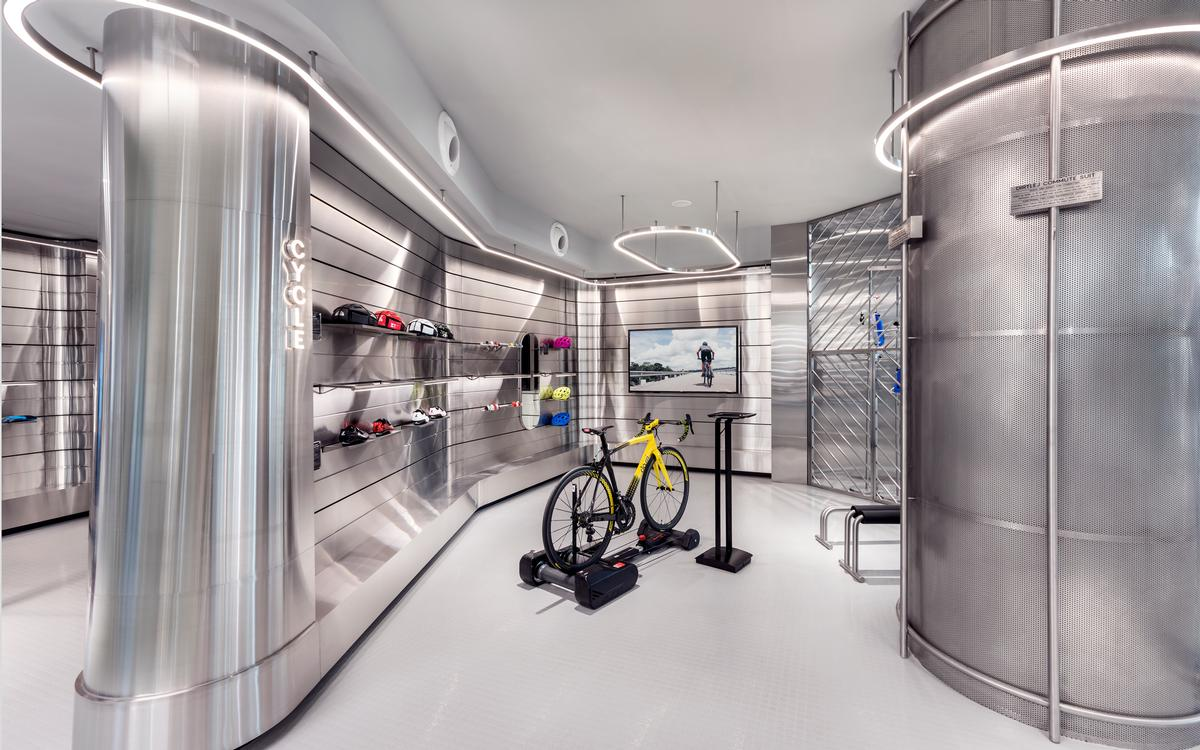 MOD said they wanted the boutique to have a futuristic, laboratory-style vibe. / Courtesy of Ministry of Design