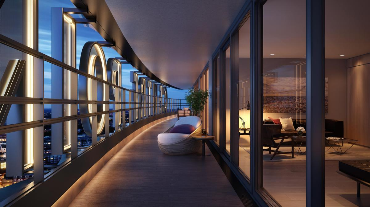 The property features 82 apartments including three penthouses. / Courtesy of Almacantar