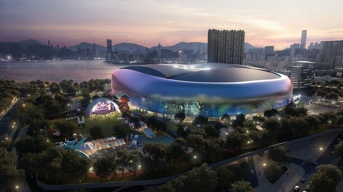 The sprawling project is set to become 'the biggest sports venue in Hong Kong'. / Courtesy of Populous