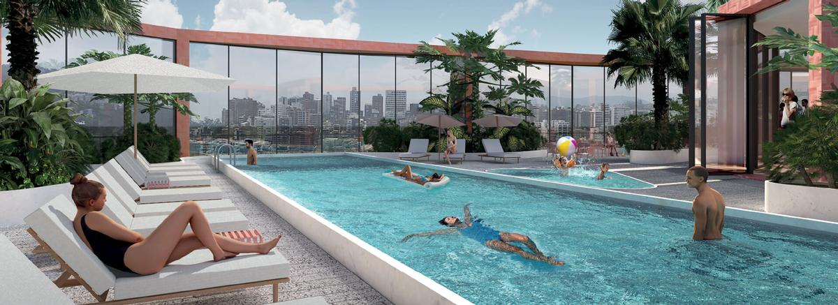 EPIQ will boast numerous leisure amenities, such as a pool and spa. / Image via EPIQ