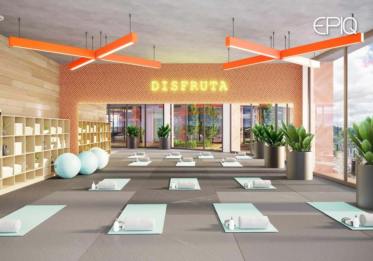 The site will also be home to a yoga space and a fitness suite. / Image via EPIQ