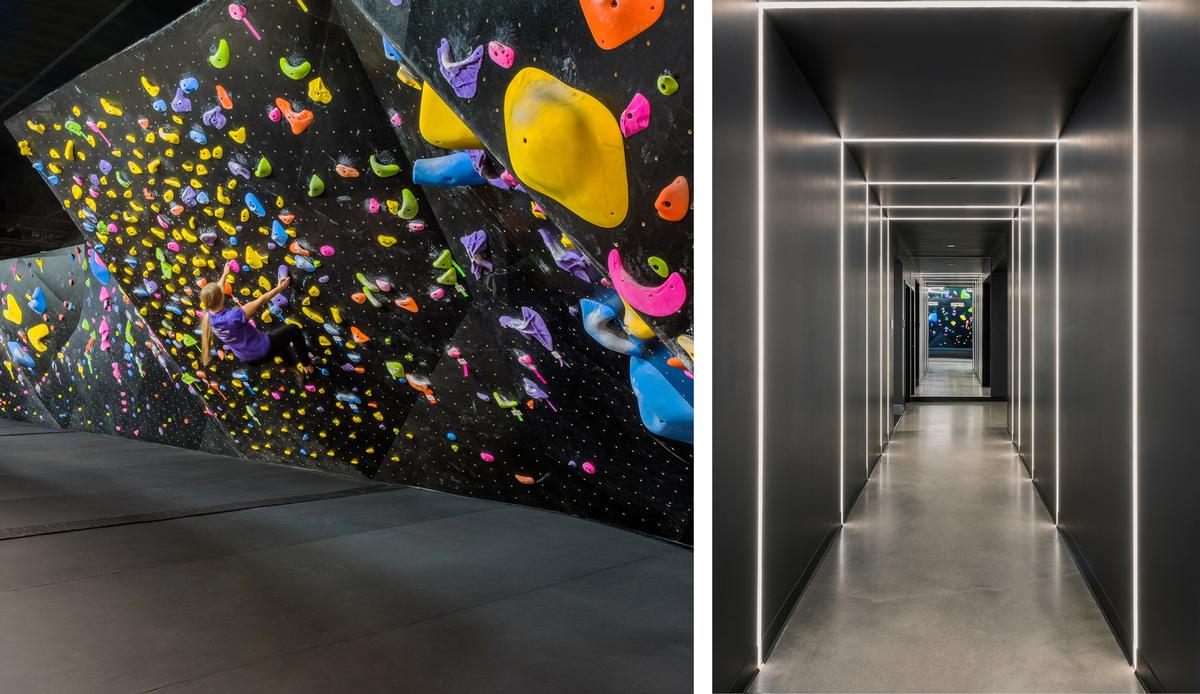 BKBX's dramatic lighting reflects the space's adventure theme. / Courtesy of Arrowstreet
