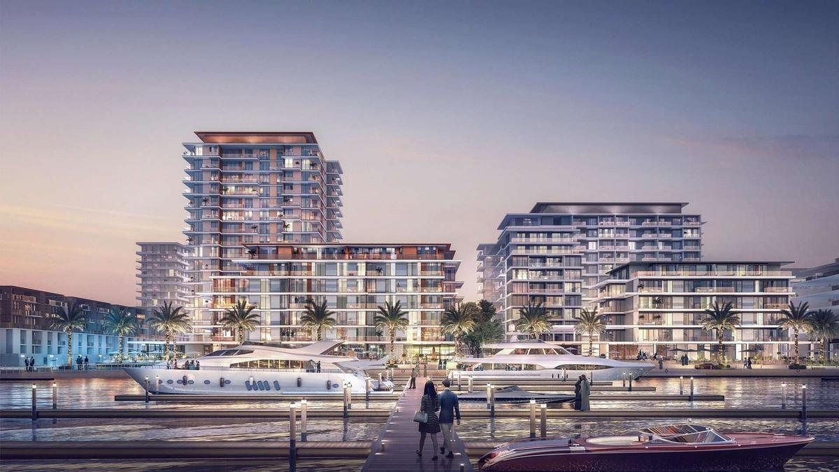 The scheme will also comprise an expansive beach and marina. / Courtesy of Emaar