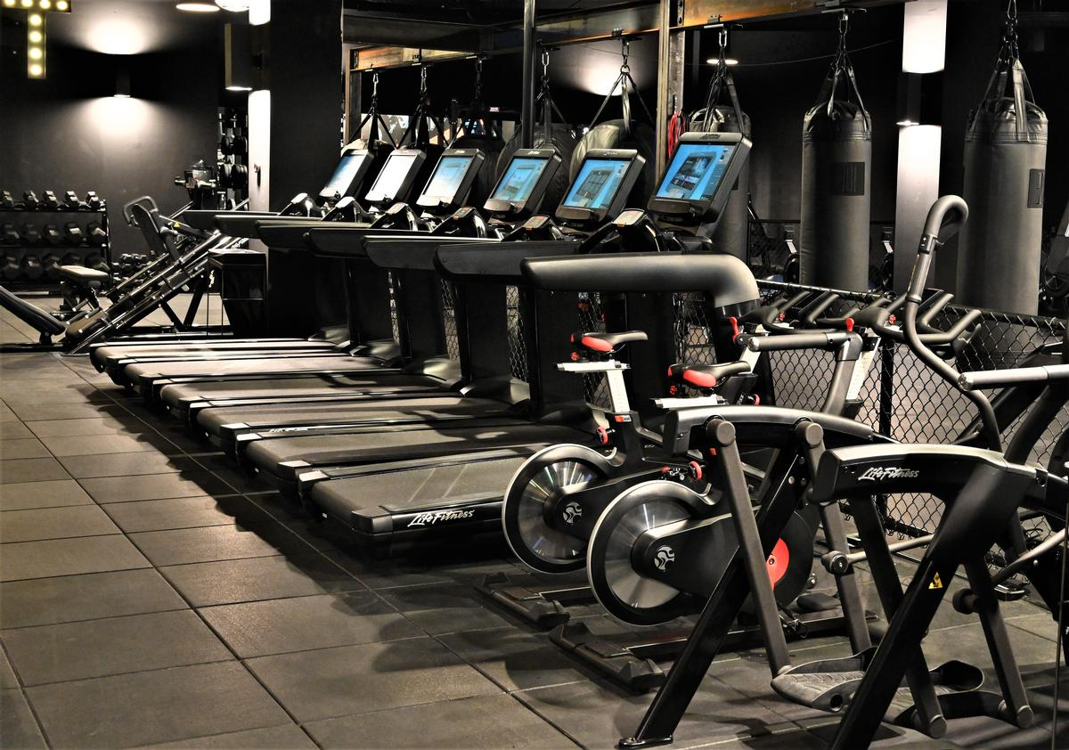On-site amenities include: treadmills, free weights, and cardio equipment. / Courtesy of EverybodyFights