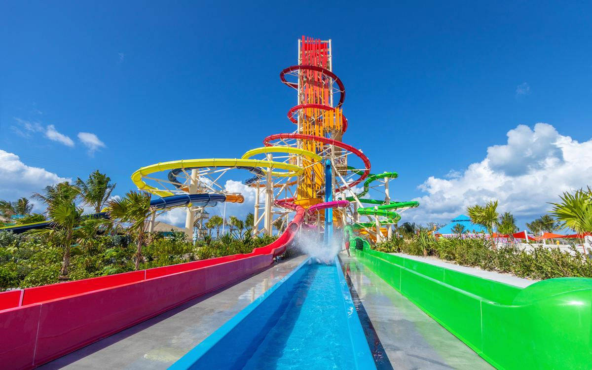 The waterpark has more slides than any other in the Caribbean