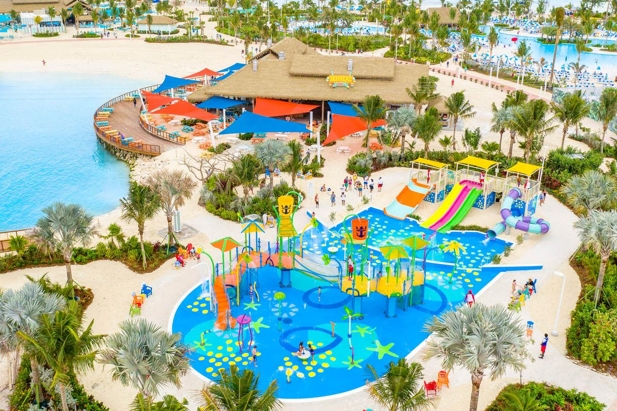 Guests of all ages can enjoy the island's Oasis Lagoon