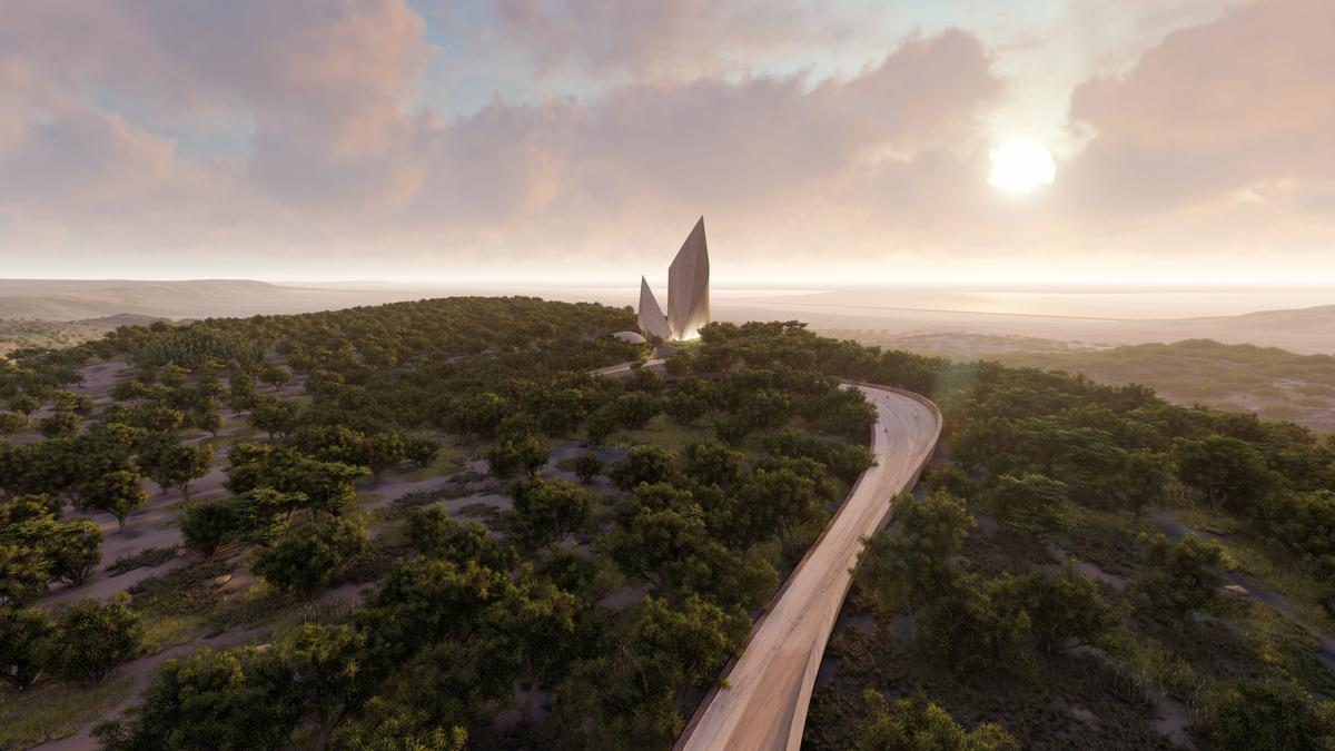 The project is expected to begin construction in 2022. / Courtesy of Studio Libeskind