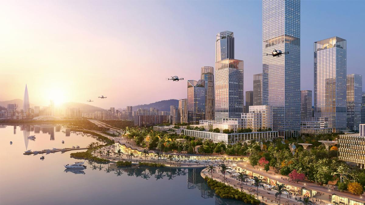 The 5.5 million sq m waterfront development will feature gyms, art installations, museums, and waterside attractions. / Courtesy of Henning Larsen