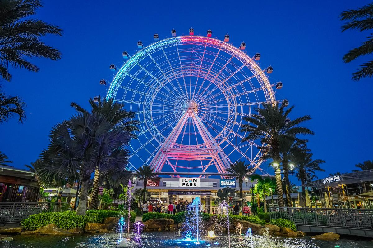 Icon Park's 400ft-tall observation wheel opened in 2015 / Icon Park