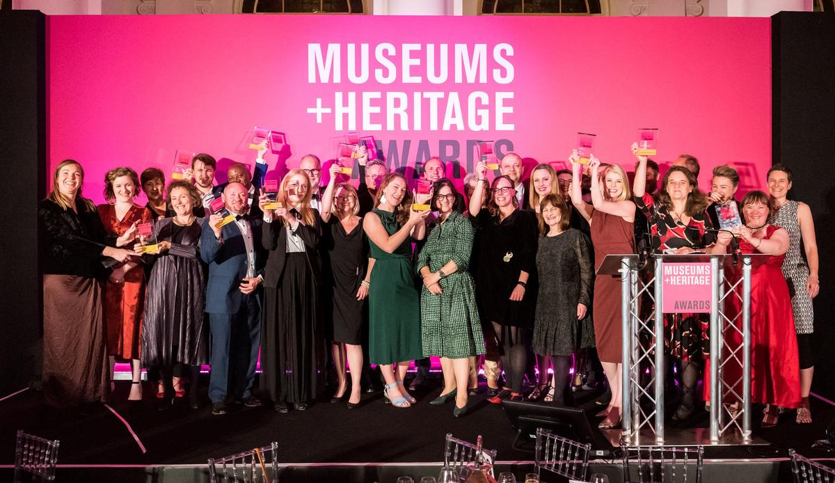 The winners gather on stage to celebrate / Simon Callaghan Photography