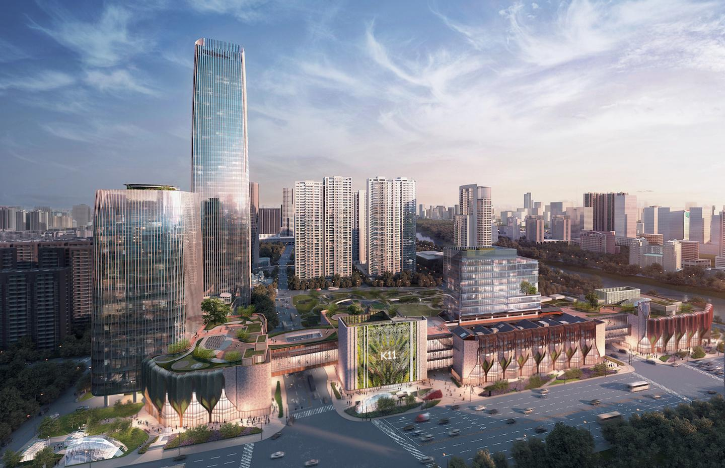 The area is designed to be a new green landmark for the city with Ningbo New World Plaza designed as an eco-friendly environment with key sustainable concepts