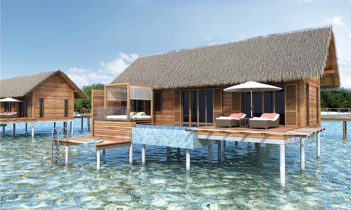 will include six over-water villas with panoramic views and a 200 sq m over-water presidential suite, all of which will have private pools