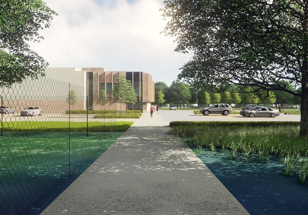 The centre was designed by CPMG Architects and will be developed by Morgan Sindall