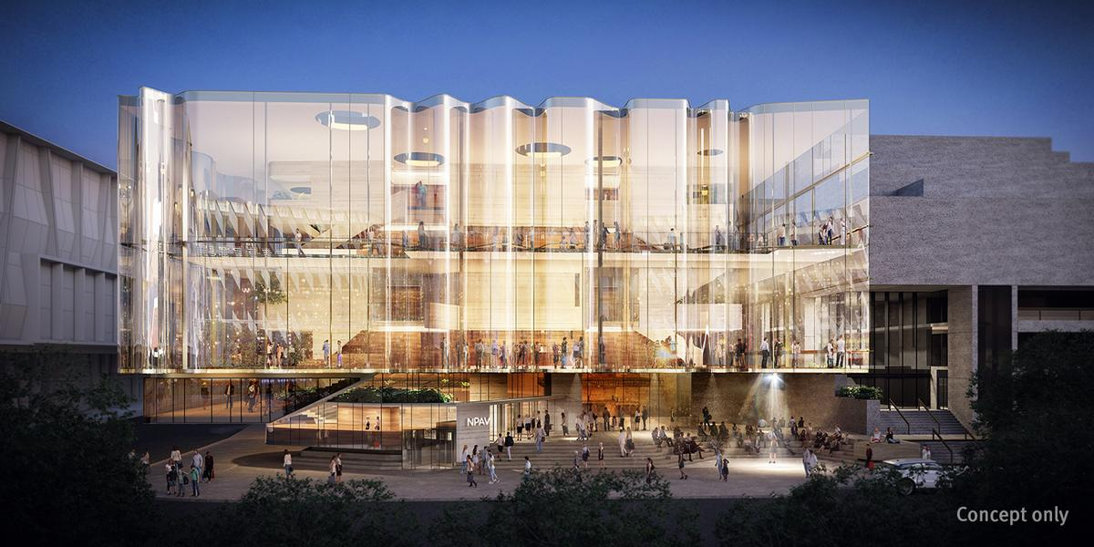 The project is said to be the largest investment in Queensland's arts infrastructure since the Gallery of Modern Art. / Courtesy of Snøhetta and Blight Rayner