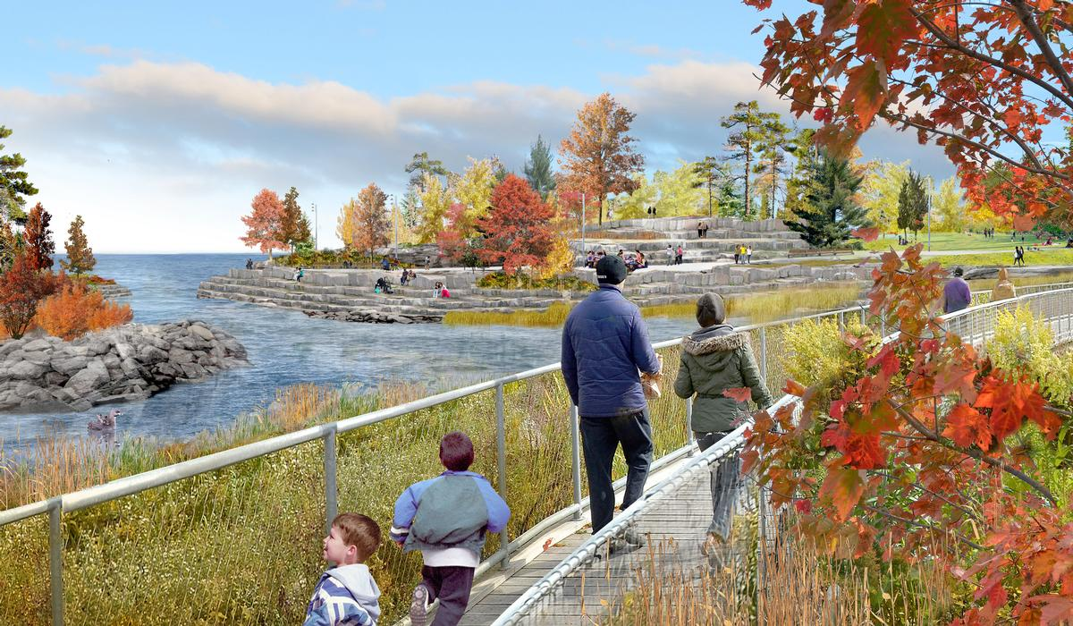 The park will span 92 acres across the Lake Erie shoreline. / Courtesy of MVVA