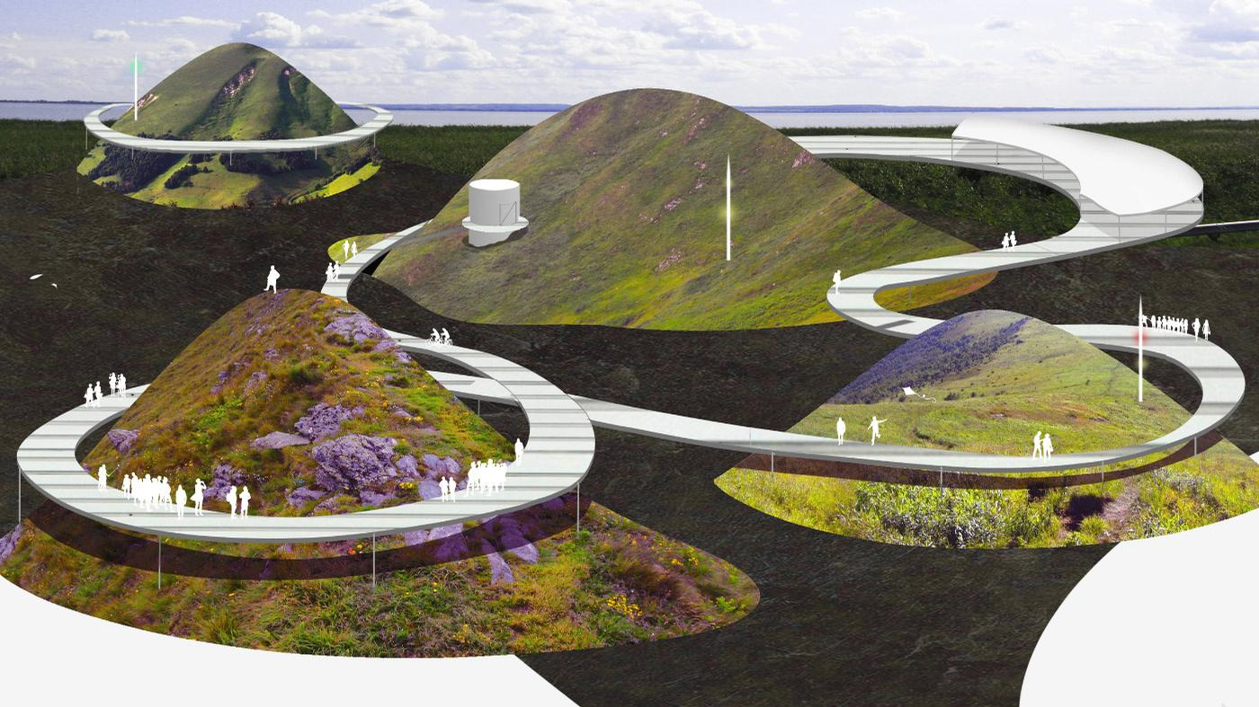 The future attraction will feature a variety of walkways, pavilions, theatres, and art installations / SO-IL and West 8