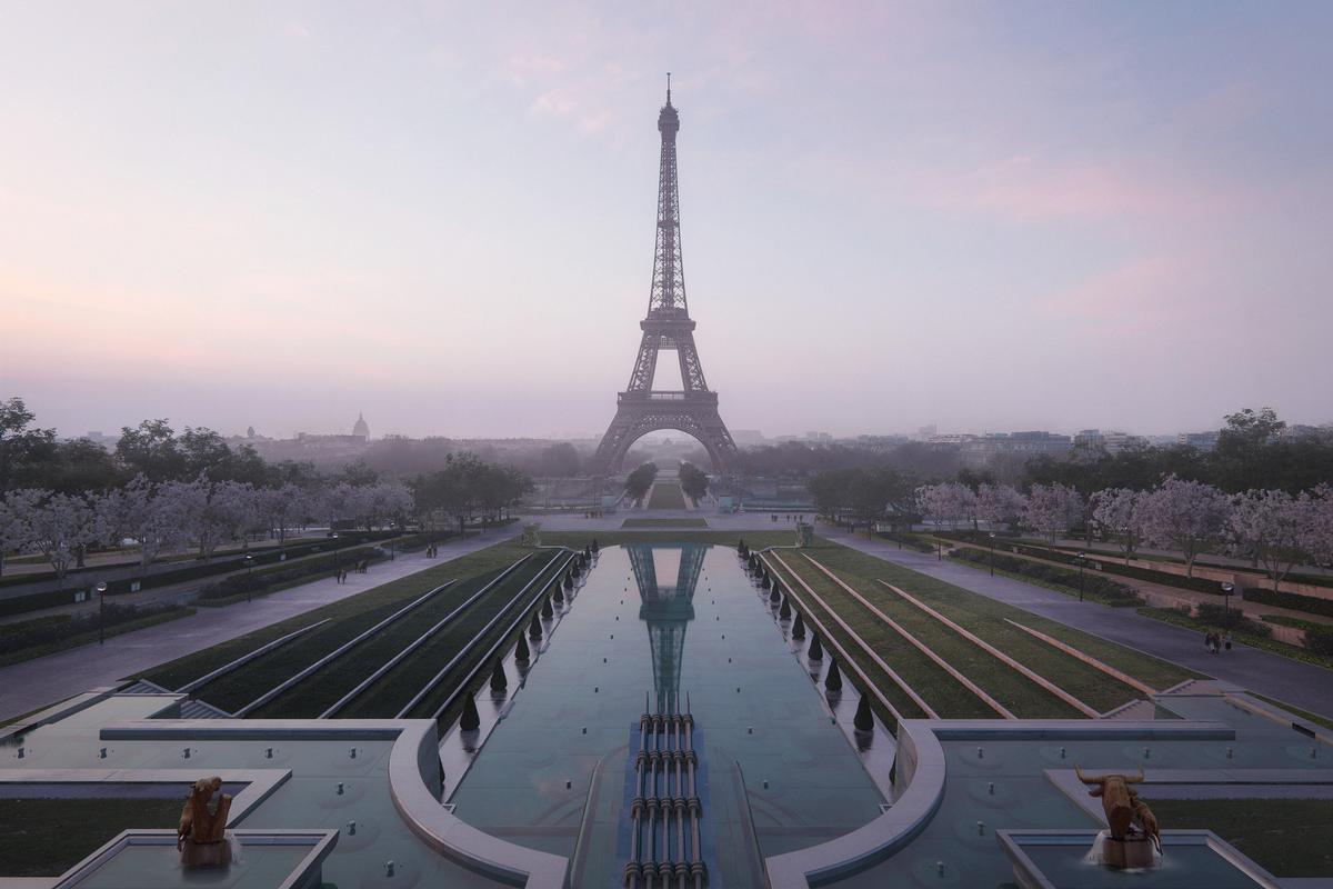 The mayor of Paris, Anne Hidalgo, called Gustafson Porter + Bowman's design concept for the park