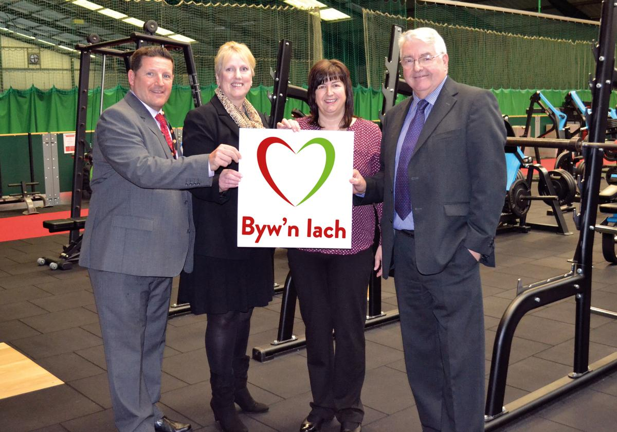 Byw'n Iach MD Amanda Davies (second from right) with board members Jason Parry, Beth Lawton and Dewi Owen
