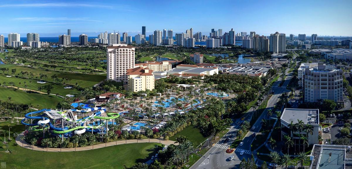 The five-acre waterpark cost $150m / JW Marriott Miami Turnberry Resort and Spa