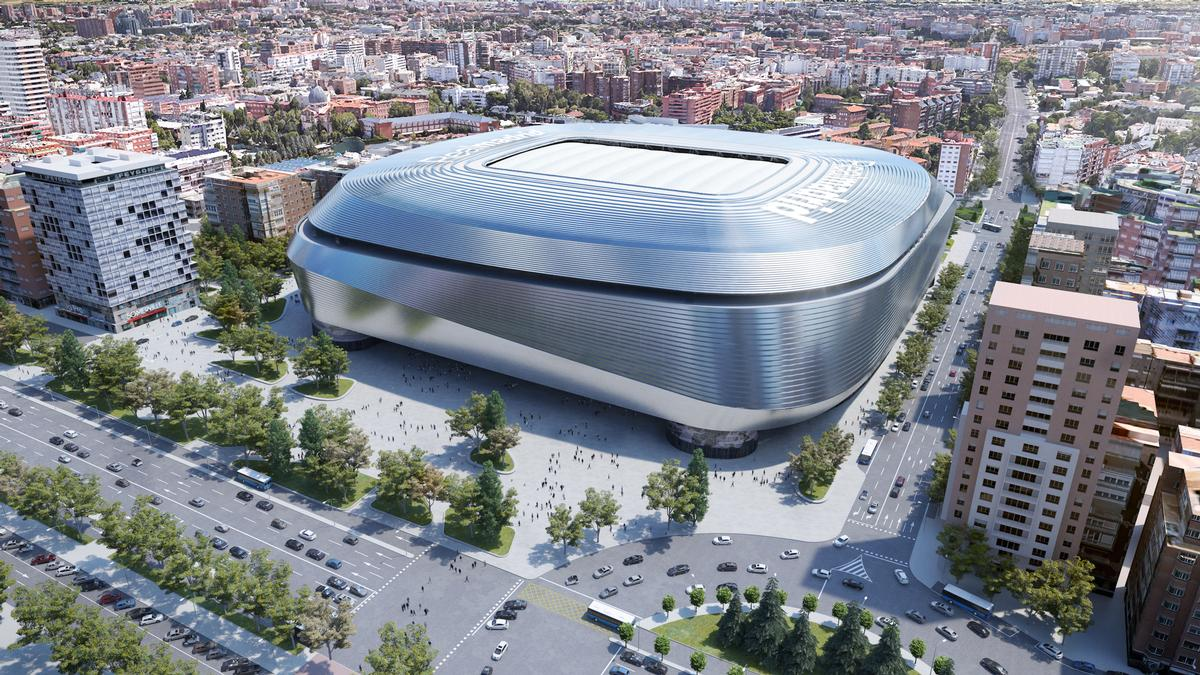 The new sports facility will be able to accommodate up to 90,000 spectators. / Courtesy of Real Madrid