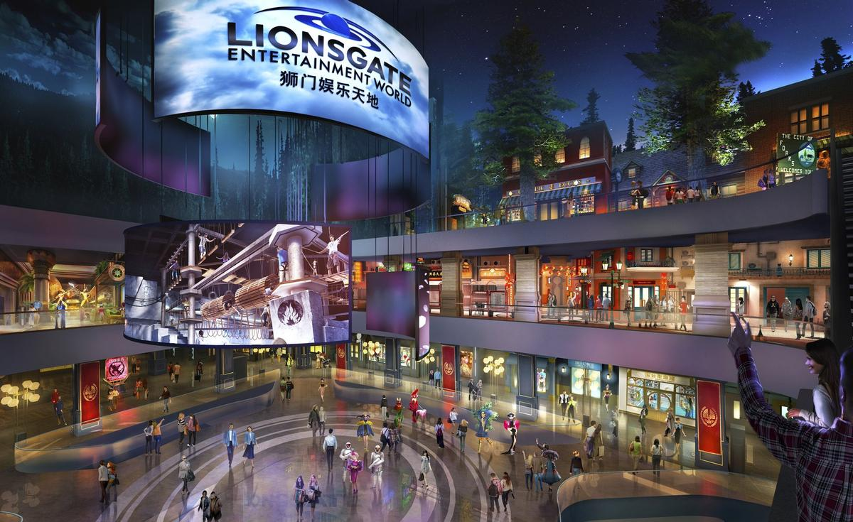 Lionsgate Entertainment World will be a 'vertical' theme park, throughout a 10-storey unit