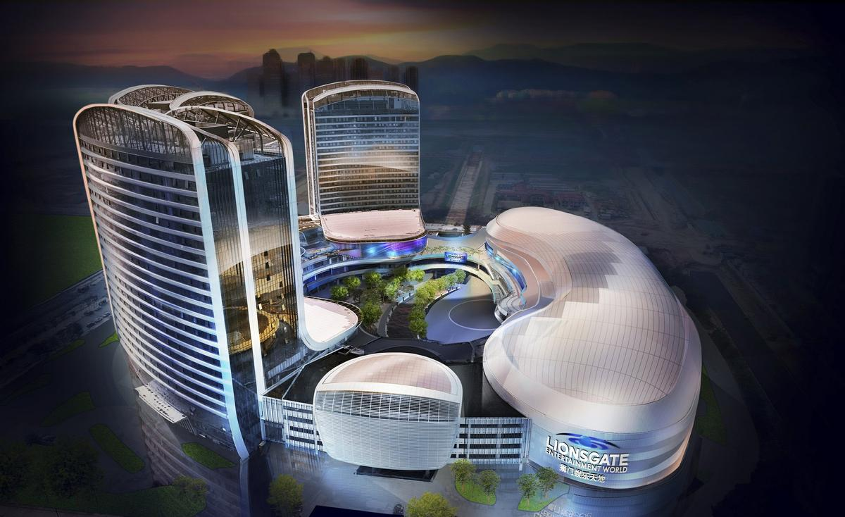 The theme park is part of a wider development called Novotown on Hengqin Island, China