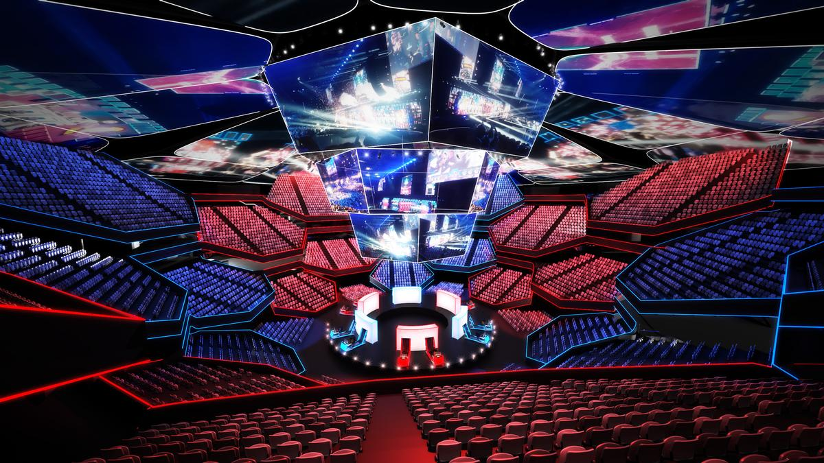 Arenas of the future may also offer a variety of hospitality-driven experiences. / HOK/SAP