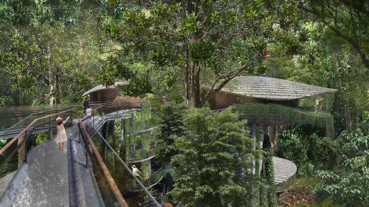 The getaway will comprise 388 guest rooms, including 24 eco-lodges. / Mandai Park Holdings