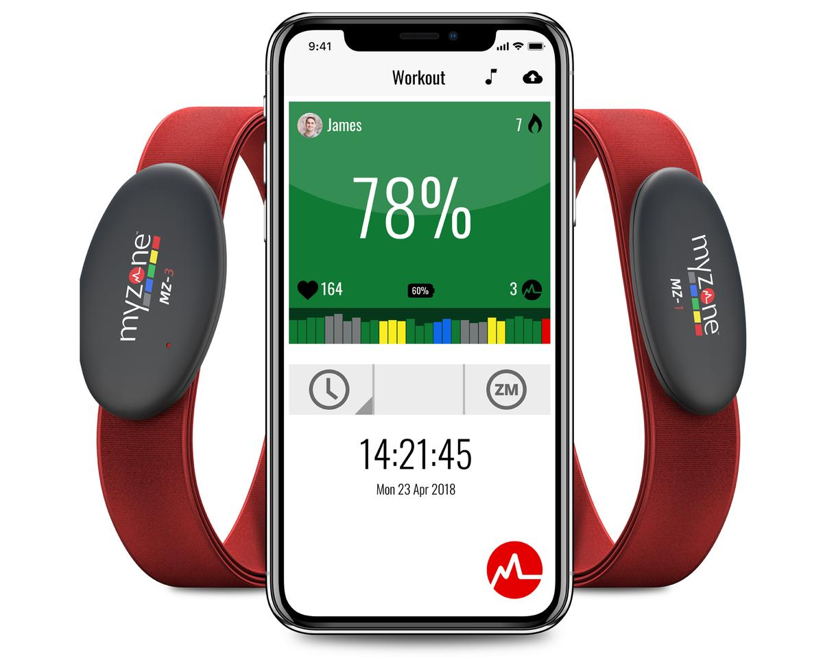 The Myzone belt measures a user's heart rate accurate to an EKG of 99.4 per cent