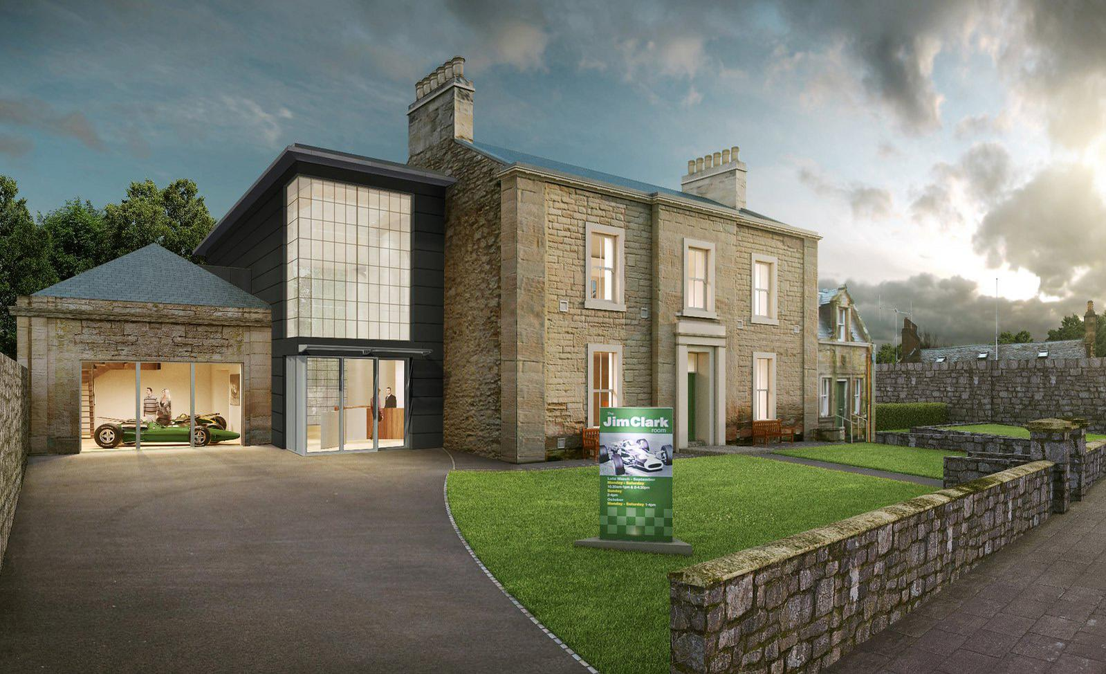 An artist's impression of the new museum in Duns, Scotland