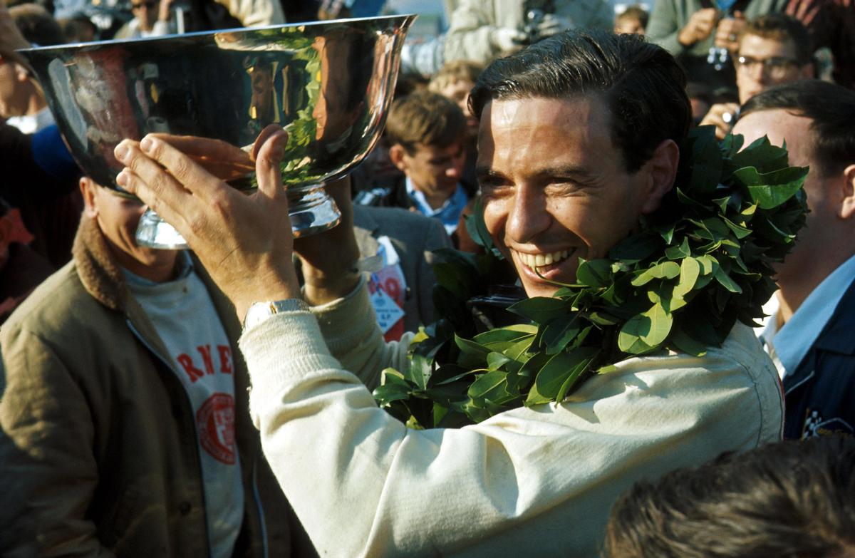 Jim Clark, after winning for Lotus at the US Grand Prix in 1966 / Sutton Images