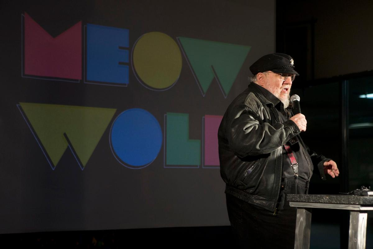 George R.R. Martin has been named chief world builder by design collective Meow Wolf / Meow Wolf