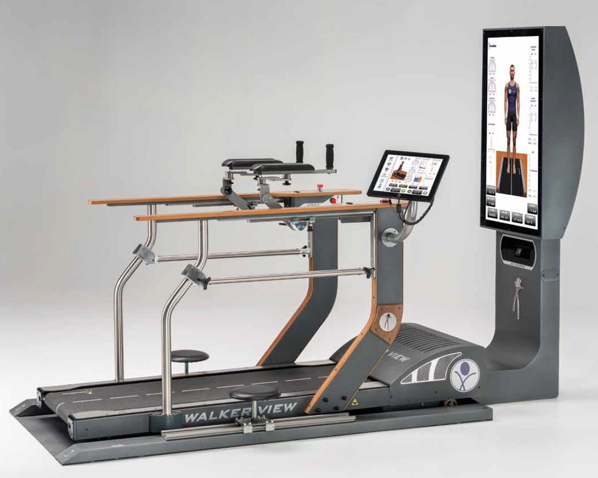 Tecnobody's Walker View 3.0 is designed to analyse the user's gait and running style, as well as aid recovery from sports injuries
